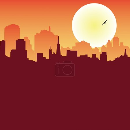 Photo for City skyline at night vector illustration - Royalty Free Image