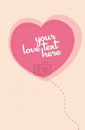 Photo for Print ready Love Greeting Card vector template - Royalty Free Image