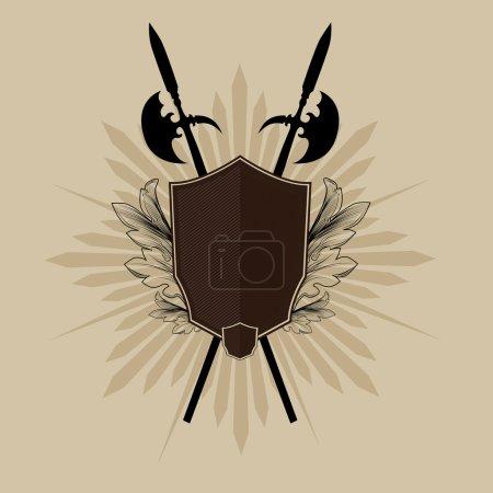 Photo for Vintage emblem design element symbolizing power. - Royalty Free Image