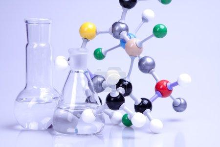 Photo pour Chaîne moléculaire en laboratoire . - image libre de droit