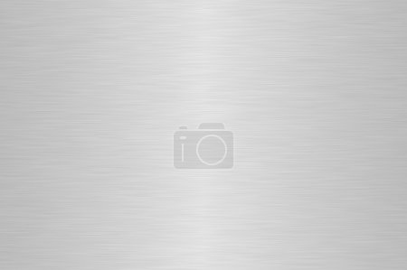 Photo for Shiny silver brushed steel background - Royalty Free Image