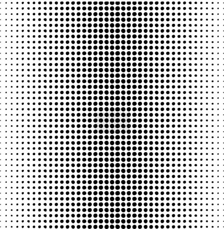Illustration for Vector dots pattern on a white - Royalty Free Image