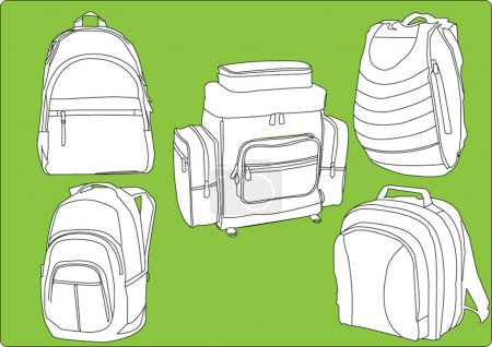 Illustration for Rucksacks collection - vector - Royalty Free Image