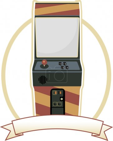 Video Arcade Cabinet Oval Badge