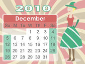 December 2010 Calendar with Elf Woman