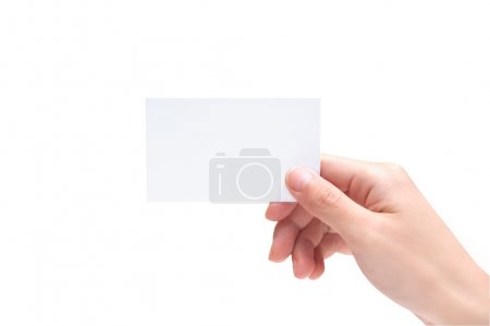 Photo for Blank Business Card In Hand - Royalty Free Image