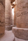 Ancient stone columns in Karnak