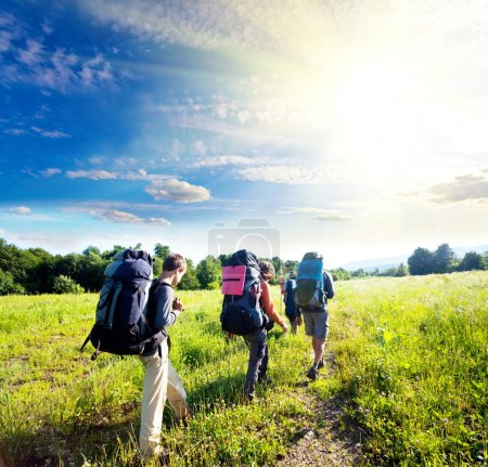Photo pour Backpackers - image libre de droit