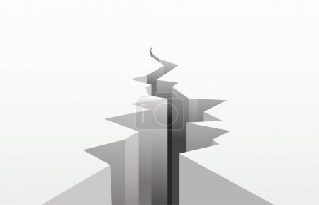 Illustration for The cracked white surface. A vector illustration - Royalty Free Image