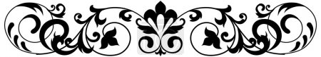 Illustration for Black and white seamless ornament. Vector illustration. - Royalty Free Image