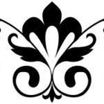 Black and white seamless ornament. Vector illustra...