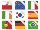 Flags with ribbons
