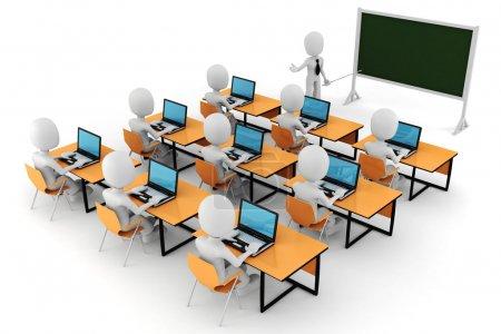 3d man - classroom