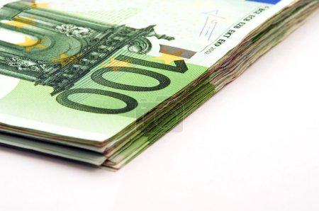 100 Euro Banknotes Pile