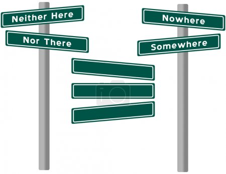 Set of Street Signs