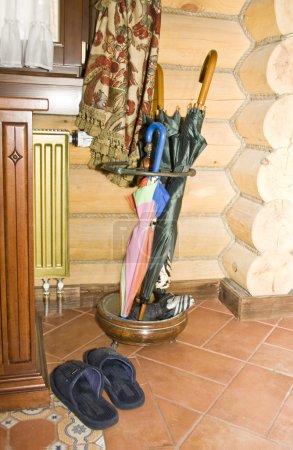 Umbrellas in hallway