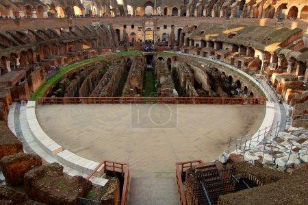 Arena inside Colosseum Rome, Italy