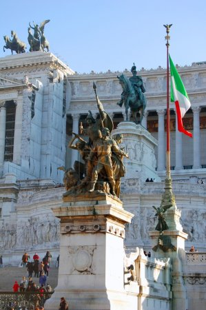 Photo pour Photo du Monument Victor Emmanuel II à Rome - image libre de droit