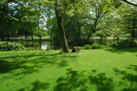 Photo pour Photo de parc de la ville en été - image libre de droit