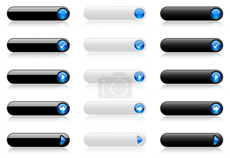Web buttons (black and white)