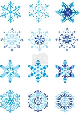 modulation de cristal d'un flocon de neige