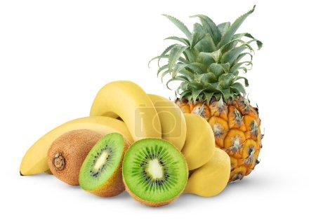 Photo pour Fruits tropicaux isolés sur blanc - image libre de droit