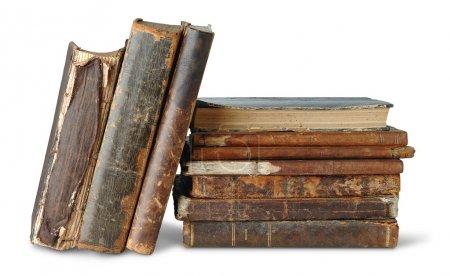 Photo pour Vieux livres isolés sur blanc - image libre de droit