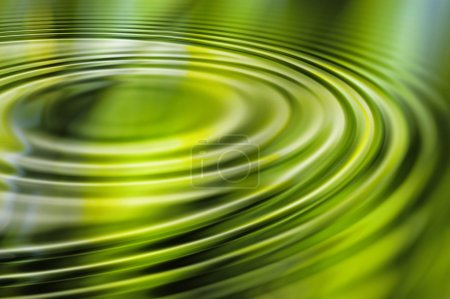 Green water ripple