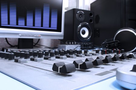 Photo for A control panel in a radio studio - Royalty Free Image