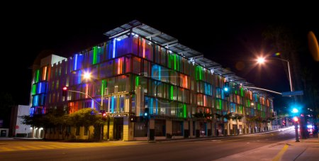 Parking Structure in Los Angeles With Colorful A