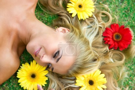 Flowers and blonde