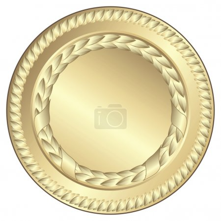 Illustration for Gold medal - This image is a vector illustration and can be scaled to any size without loss of resolution - Royalty Free Image