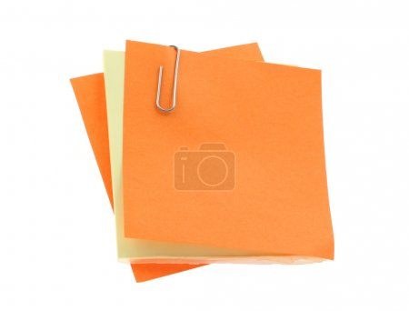 Photo for Paper notes with clip - Royalty Free Image