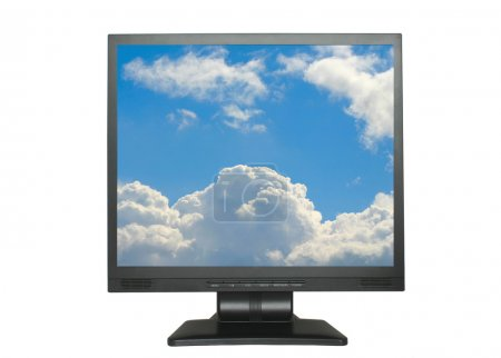 Lcd with sky background