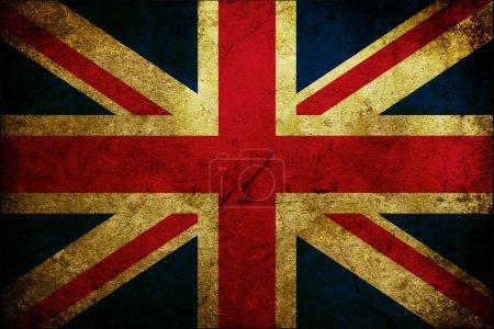 Photo pour Drapeau rayé grunge de la Grande-Bretagne - image libre de droit