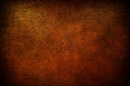 Photo for A grunge brown leather used like background - Royalty Free Image