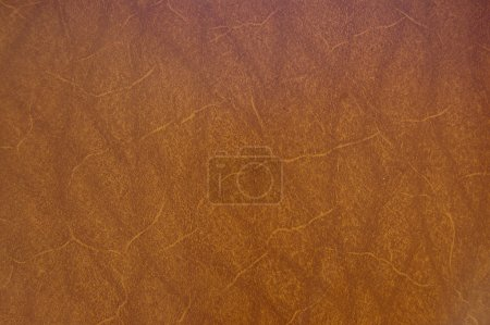 Photo for A close up of a brown raw leather - Royalty Free Image