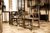 The furnishings in the ancient chinese study
