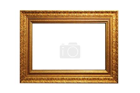 Photo pour Un cadre photo doré avec un motif décoratif - image libre de droit