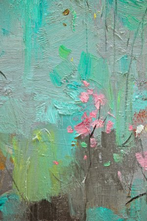 Texture of the painting details