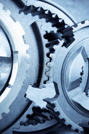 Gears meshing together