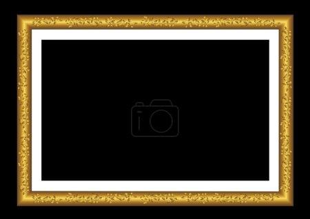 Vector gold frame.