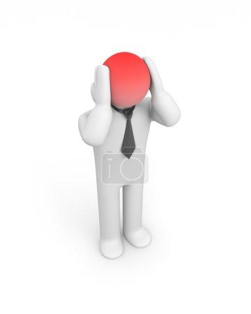 Headache businessman