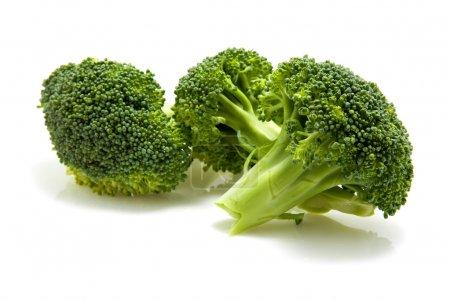 Photo for Fresh broccoli isolated on white background - Royalty Free Image