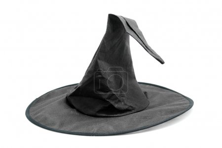 Black fabric witch hat