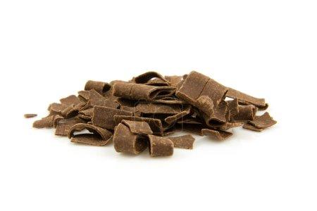 Pile chocolate flakes