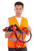 Man in safety vest