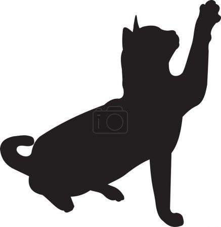 Illustration pour Vecteur de chat. Pour voir similaire, s'il vous plaît visitez mon porto - image libre de droit