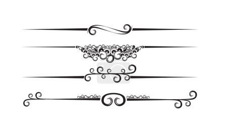 Illustration pour Bannières florales avec place pour votre texte. illustration vectorielle - image libre de droit