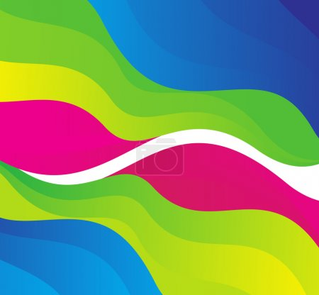 Abstract rainbow colors wave